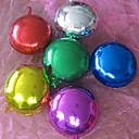 (10 piezas) 10 pulgadas de papel de aluminio globos de helio redonda (color al azar)