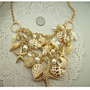 Starfish And Shell Necklace(Gold Color)(1Pc)