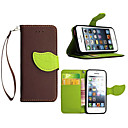 Buy Luxury PU Leather Skin Flip Stand Cover Case iPhone 5S 5C Phone Shell Leaf Pouch Wallet Handbag + Lanyard+Card Slot
