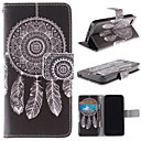 White Dreamcatcher Pattern PU Leather Full Body Case with Stand and Card Slot for iPhone 5/5S