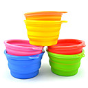 Silicone Pet Dogs Folding Bowl Random Colors