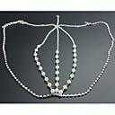 Buy Pretty Pearl Diamond Chain Wedding/Party Headpiece