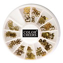 60pcs Golden Soft Metal Nail Art Dekorationer Kits