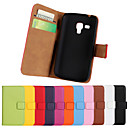 Genuine Leather Full Body Flip Case with Card Slot and Stand Case for Samsung Galaxy Trend Plus S7580/Trend Duos S7562