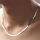 Unisex Sterling Silver Necklace Chain Necklaces Party/Daily/Casual/Sports