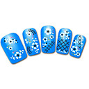 Lovely Fence Flowers Cartoon Finger Nail Stickers