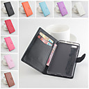 Buy Huawei Case Wallet / Card Holder Stand Flip Magnetic Full Body Solid Color Hard PU Leather