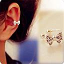 Crystal Bowknot Ear Bone Clip(Silver)(1Pr)