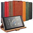 Bark Grain Genuine Leather Full Body Cover with Stand and Case for Huawei Ascend P8 (Assorted Colors)