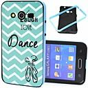 Buy Dance Words Ripple Pattern Plastic/TPU 2 1 Design Back Cover Case Samsung Galaxy Core G355H