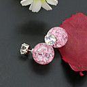 Buy Stud Earrings Crystal Rhinestone Gold Plated Simulated Diamond 18K gold Fashion Green Blue Pink Light Jewelry