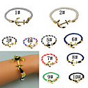 2015 New  Jewelry Navy  Anchor Bracelet For Men Women