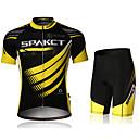 manga corta Spakct hombres transpirable ciclismo traje de poliéster + poliamida + spandex (camiseta + pantalones cortos)
