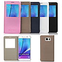 Original Flip PU Leather View Window Smart Auto-Sleep Full Body Case for Samsung Galaxy Note 5 (Assorted Colors)