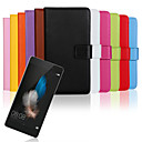Buy Huawei Case / P8 Lite Wallet Card Holder Stand Flip Full Body Solid Color Hard PU Leather HuaweiHuawei