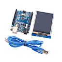 Arduinoのための改良されたバージョンのUNO R3のatmega328p基板モジュール+ 2.8インチTFT液晶タッチシールドディスプレイモジュール