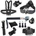 9-en-1 kit d'accessoires GoPro pour GoPro hero4 / 3 + / 3/2/1