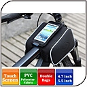 Waterproof/Waterproof Zipper/Reflective Strip/Wearable/Shock Resistance Bike Frame Bag Cycling Black600D