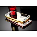 Luxury Diamond Decorated PC Mirror Back Cover + Aluminium Bumper Frame Case for IPhone 5/5S (Assorted colors)