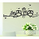 Five Owl Creative Cartoon Wall Stickers