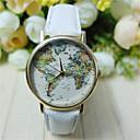 Buy Unisex World Map Style Watch/Vintage Map/Antique Map/ Ladies Watch/ Women Premium Faux Leather Wrist Watch Cool Unique