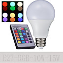 1 pcs Ding Yao E27 10/15W 6000K High Power LED 500-650LM RGB A Remote-Controlled Globe Bulbs AC 85-265V