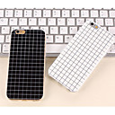 The Simple Black and White Color Matt Small Lattice TPU Cases for iPhone6s 6 Plus