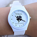 Buy Children's Cartoon TFboys Clover Pattern colorful Silicone Band Quartz Analog Wrist Watch