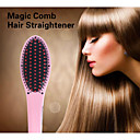 2015 New Professional Straightening Irons Come With LCD Display Electric Straight Hair Straightener Iron Brush Comb