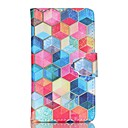 Hexagon Pattern PU Leather Case with Card Slot and Stand for Samsung Galaxy S4 mini/S3mini/S5mini/S3/S4/S5/S6/S6edge+