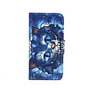Blue Cat Pattern PU Leather Full Body Case with Card Slot and Stand for iPhone 5/5S