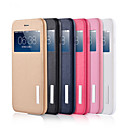 New Fashion Contracted PU + TPU + PC View Window Flip Leather Case with Stand for Iphone 6/6s (Assorted colors)