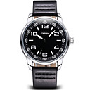 Buy SINOBI®Coffee PU Leather Strap Men's Military Watches Fashion Casual Luxury Brand Quartz Male Watch Time Hour