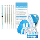 Home Teeth Whitening Deluxe Kit with Mineral Gel & LED Light for Private Tooth Bleaching Suit