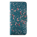 Buy iPhone 7 Plus Red Flower Painted PU Phone Case 6s 6 SE 5s 5c 5 4s 4