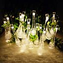 solenergi utendørs lys 6.5m 30led vann dråpe form string lys til jul bryllupsfesten lys