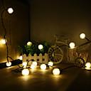 konge ro solar 19.7ft 30led jul chuzzle ball lys utendørs vanntett string lys