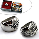 Buy Jewelry Inspired Legend Zelda Cosplay Anime/ Video Games Accessories Ring Blue / Silver Alloy Male