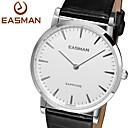 Buy EASMAN Mens Dress Watches Swiss Quartz Sapphire Glass Genuine Leather Watch Wristwatch Cool Unique