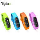 l'attività sportiva inseguitore intelligente orologio Toplux E06 braccialetto intelligente contapassi impermeabile bluetooth sonno ios android