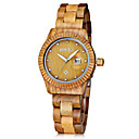 Buy Men's Women's Unisex Wrist watch Quartz Japanese Chronograph Wood Band Vintage Charm Black Brown Green Khaki Brand