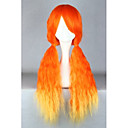 Buy Lolita Wigs Sweet Color Gradient Long Orange Wig 70 CM Cosplay Patchwork Women