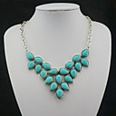 Buy Necklace Pendant Necklaces Vintage Jewelry Party Daily Casual Sports Birthstones Alloy Gem Turquoise Women 1pc Gift