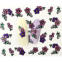 Buy 13D Water Transfer Pink/Purple Flower Nail Art Sticker DIY Decoration Tools Tips BLE857D