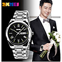SKMEI Men's 304 Stainless Steel Calendar/Water Resistant  Japanese Quartz Dress Watch