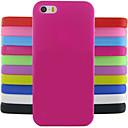 Protezione gelatina di colore solido posteriore del silicone modello di progettazione della copertura di caso per il iphone 5 / 5s (colori