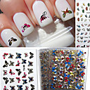 Buy 24 Mixed 3D Nail Stickers Decals Brilliant Butterfly Series