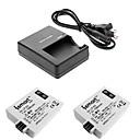 ismartdigi lpe5 x2 batterie appareil photo numérique + o.charger pour canon eos 500d / 1000d / 450D