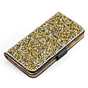 Buy Luxury Leather Wallet Metal Crystal Diamond Flip Case Cover Galaxy Note 3/Note4/Note5