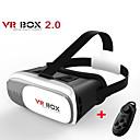 caixa de vr versão 2.0 copos vr realidade virtual em 3D para 3,5-6,0 polegadas de smartphones + controlador do bluetooth